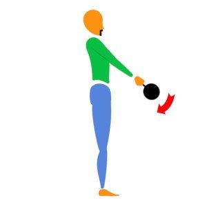 Hardstyle kettlebell Swing Downswing