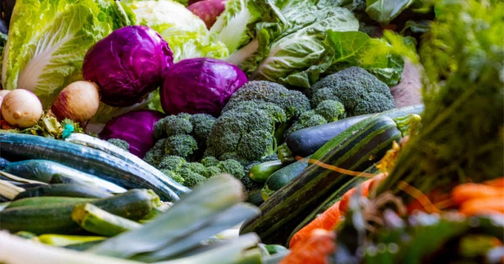 Green vegetables are a great source of iron