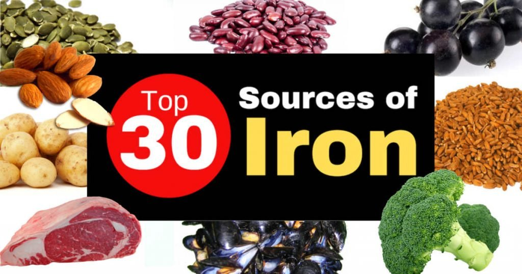 Top 30 Sources of Iron