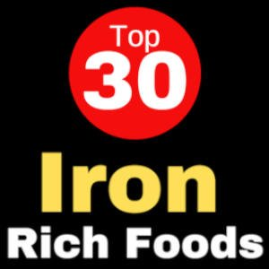 30 Top Sources of Iron -Infographic- Your handy guide to iron-rich foods