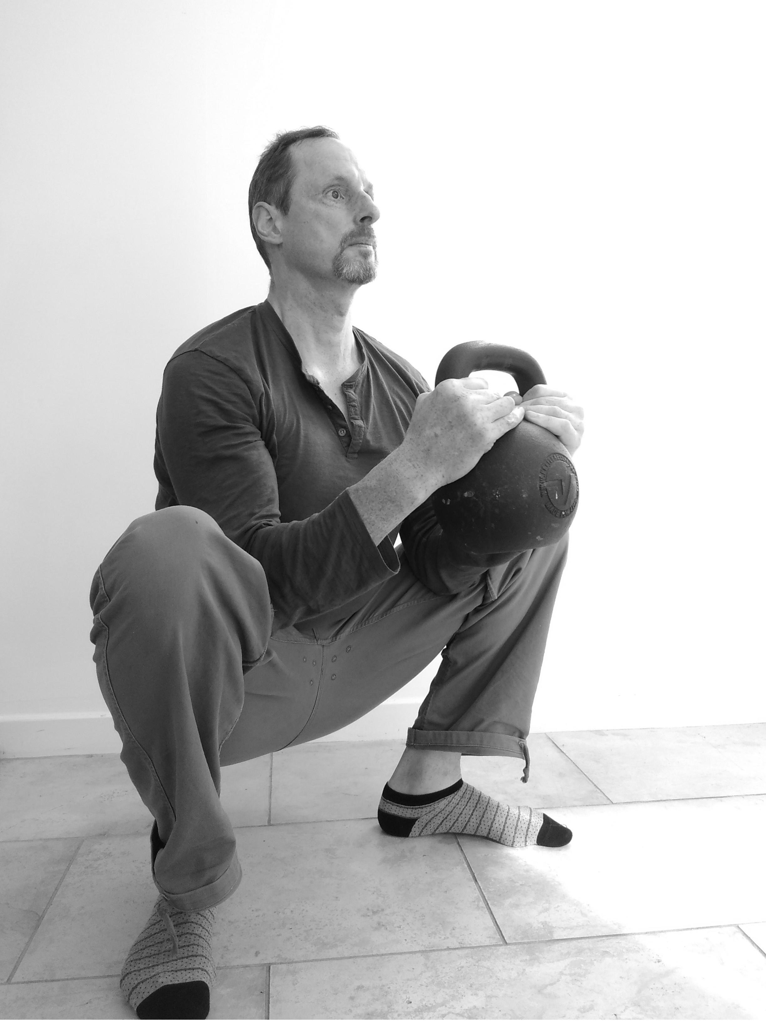 Edinburgh kettlebell class kettlebell goblet squat