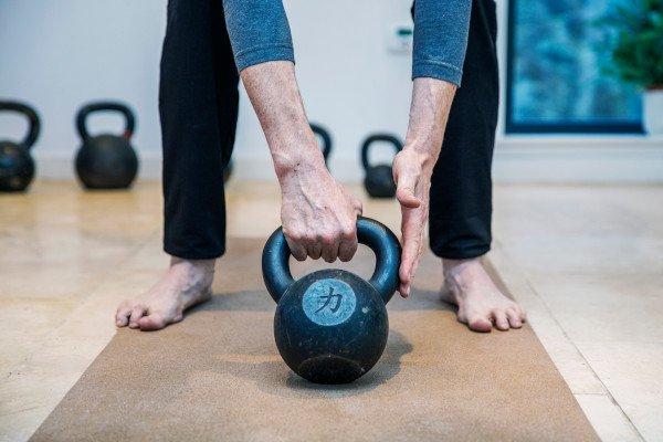 Swing set up Kettlebell workout Minimum effective dose