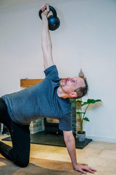 Kettlebell workout Minimum effective dose Turkish Get Up