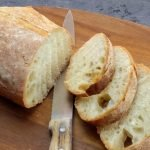 easy bread recipe sliced on board