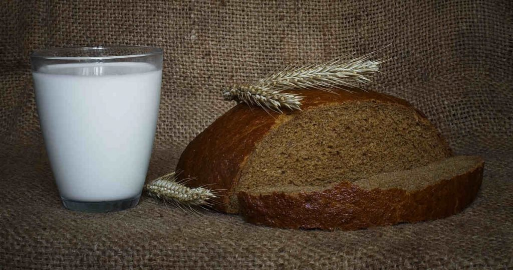 Bread and milk are a main source of calcium