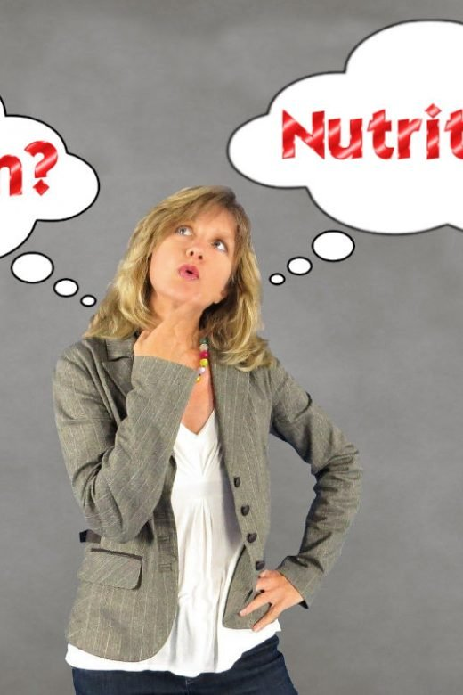 Lady thinking dietitian vs nutritionist