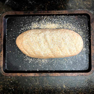 Wholemeal bread recipe loaf with oatmeal