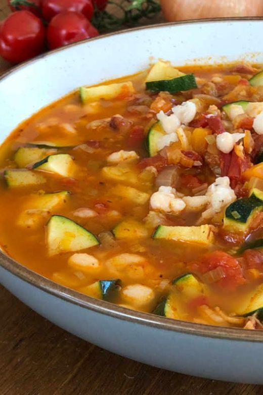 White bean Minestrone Soup recipe